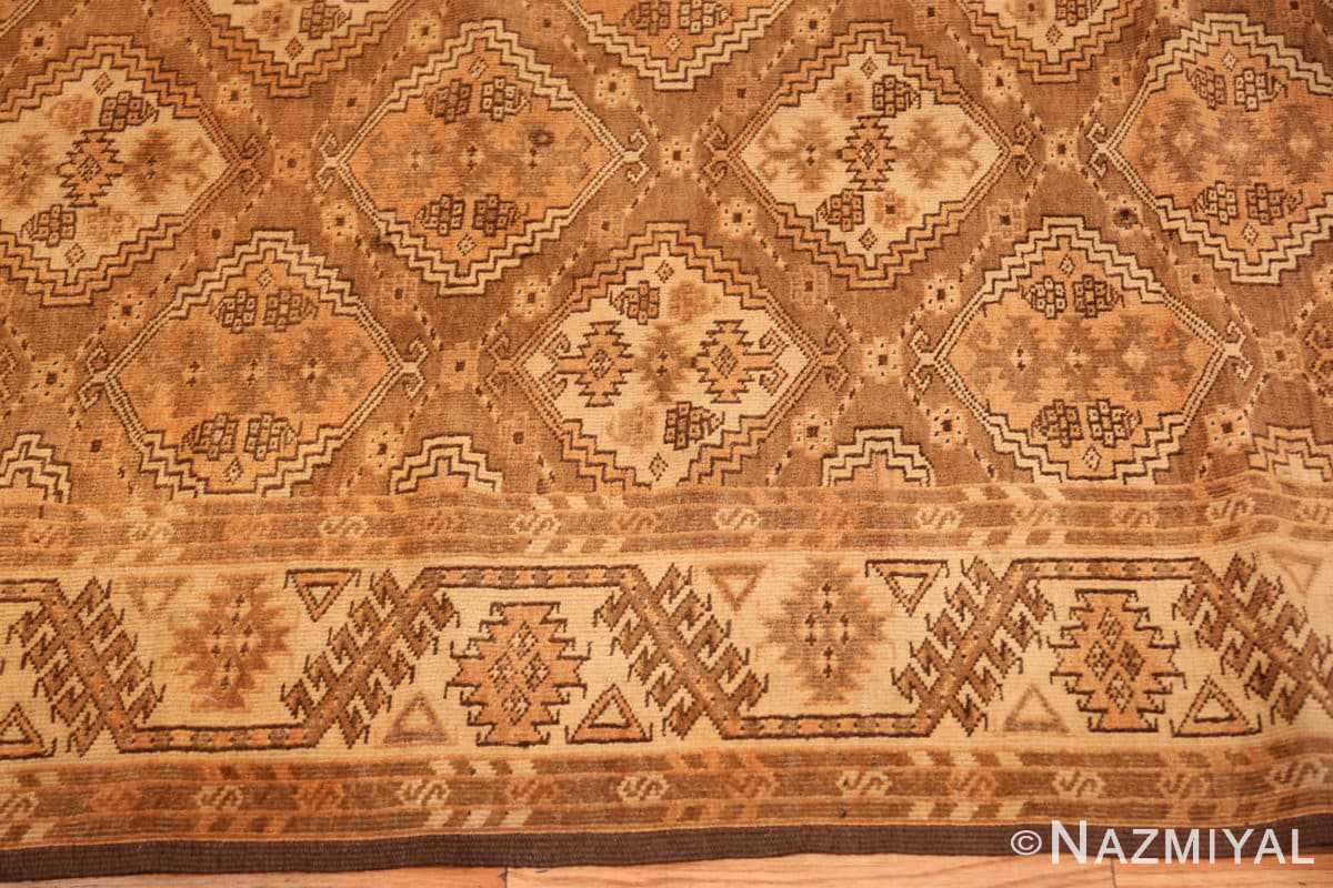 Border long and narrow vintage tribal Afghan rug 50500 by Nazmiyal