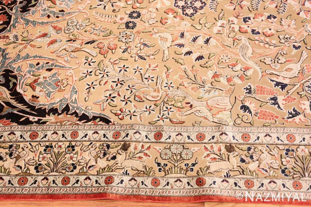 Border Small Intricate Antique Persian Kashan rug 48721 by Nazmiyal
