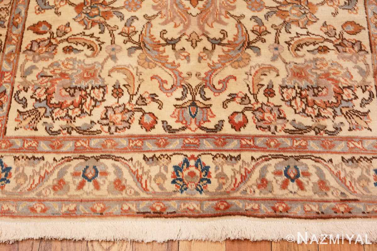 Border Small Vintage Indian Tabriz rug 50529 by Nazmiyal