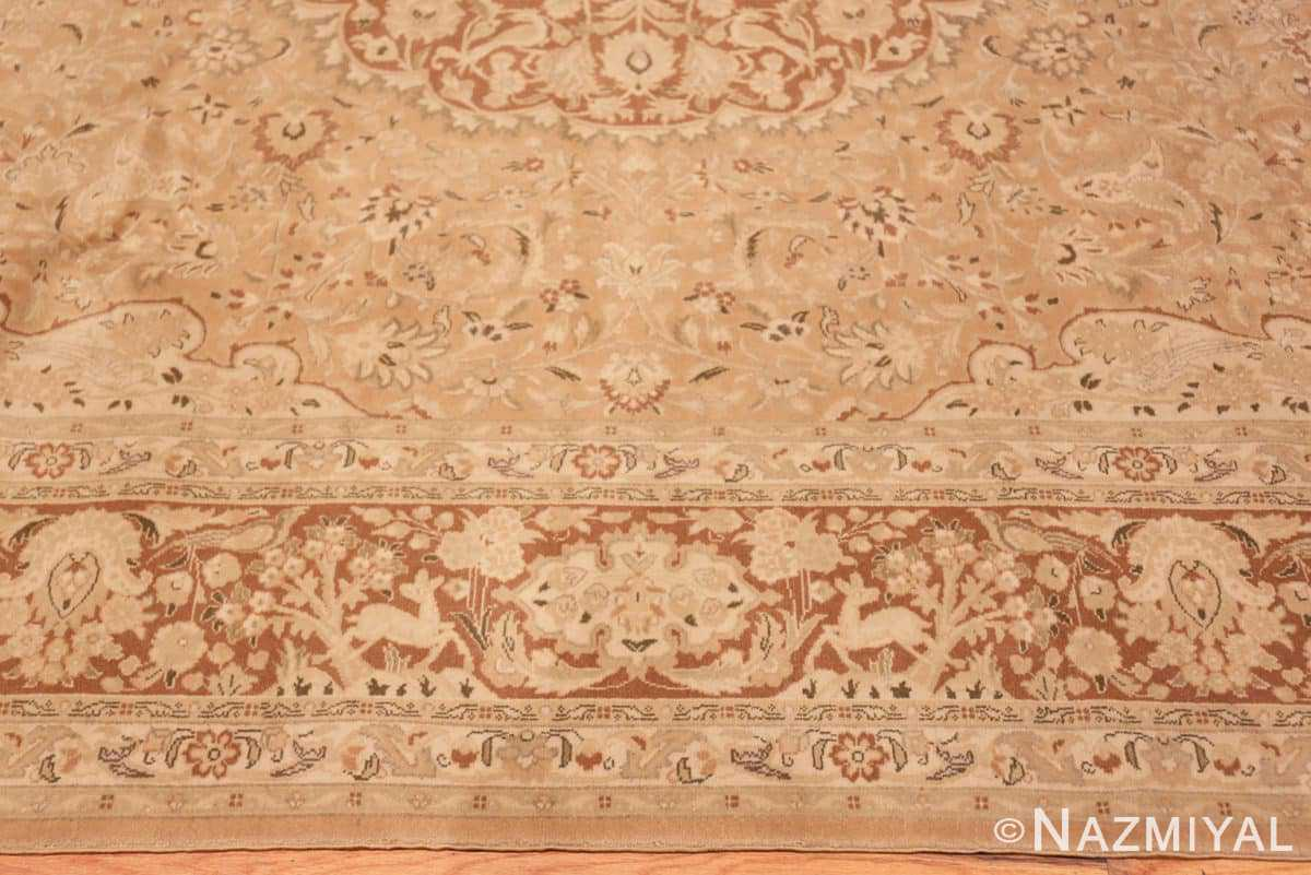 Border Vintage Alabaster Persian Tabriz rug 50444 by Nazmiyal