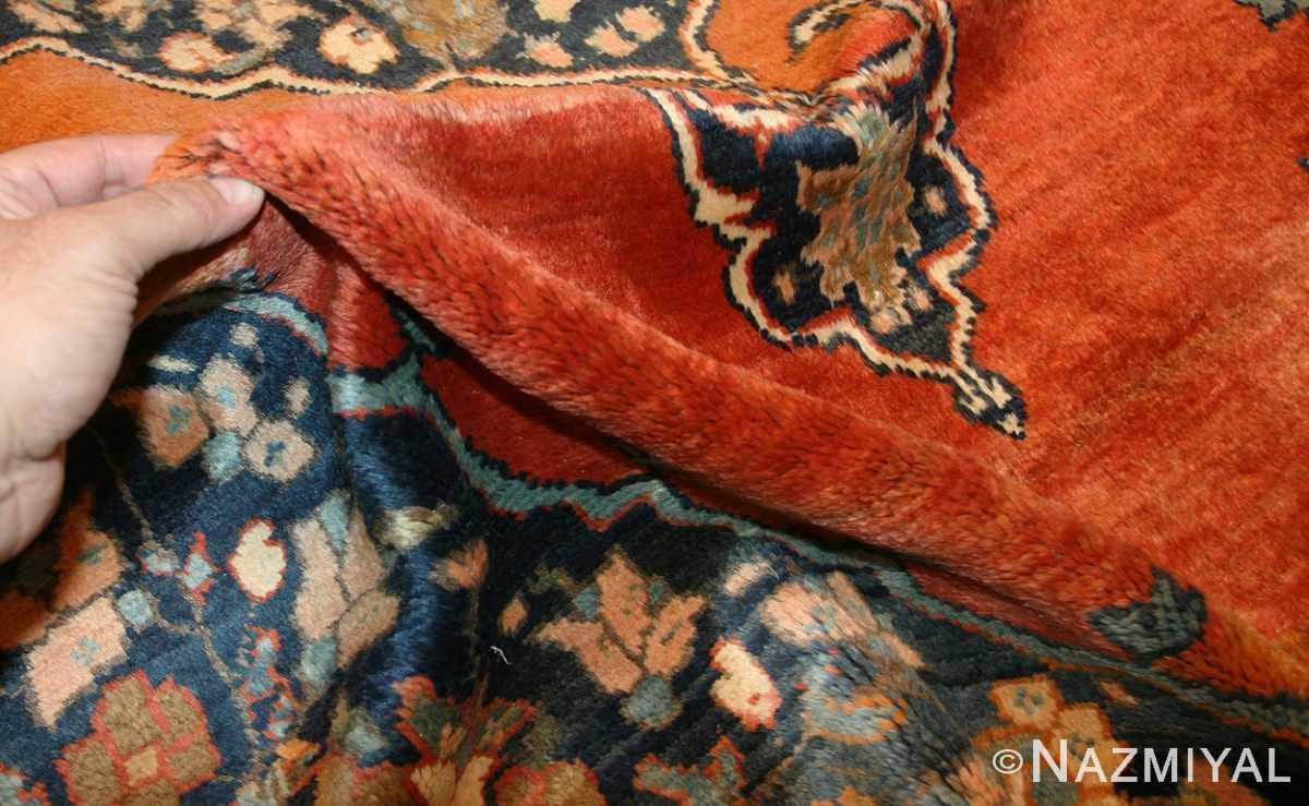 central medallion antique persian malayer rug 50498 pile Nazmiyal
