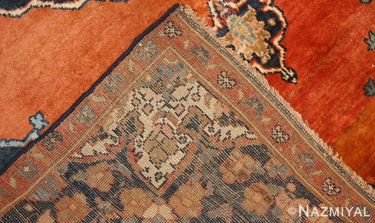 central medallion antique persian malayer rug 50498 weave Nazmiyal