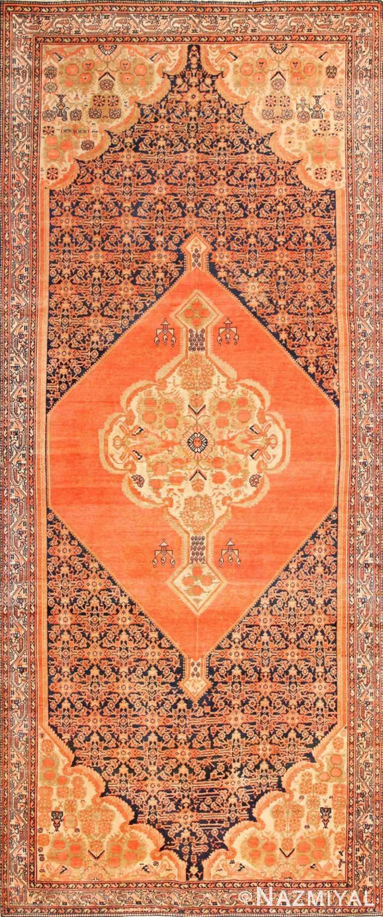 Choral Antique Persian Malayer Rug 50467 Nazmiyal