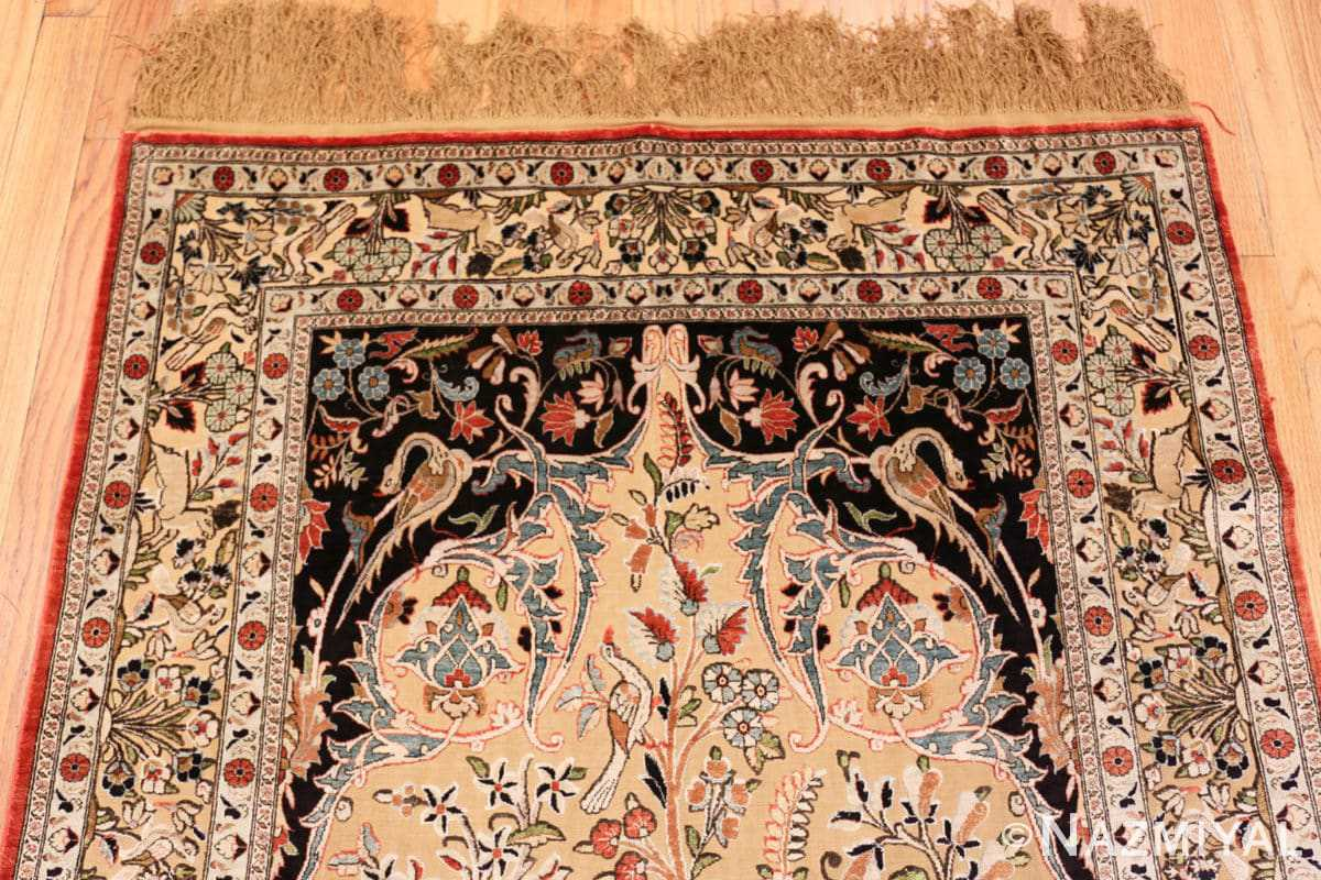 Close-up Small Intricate Antique Persian Kashan rug 48721 by Nazmiyal