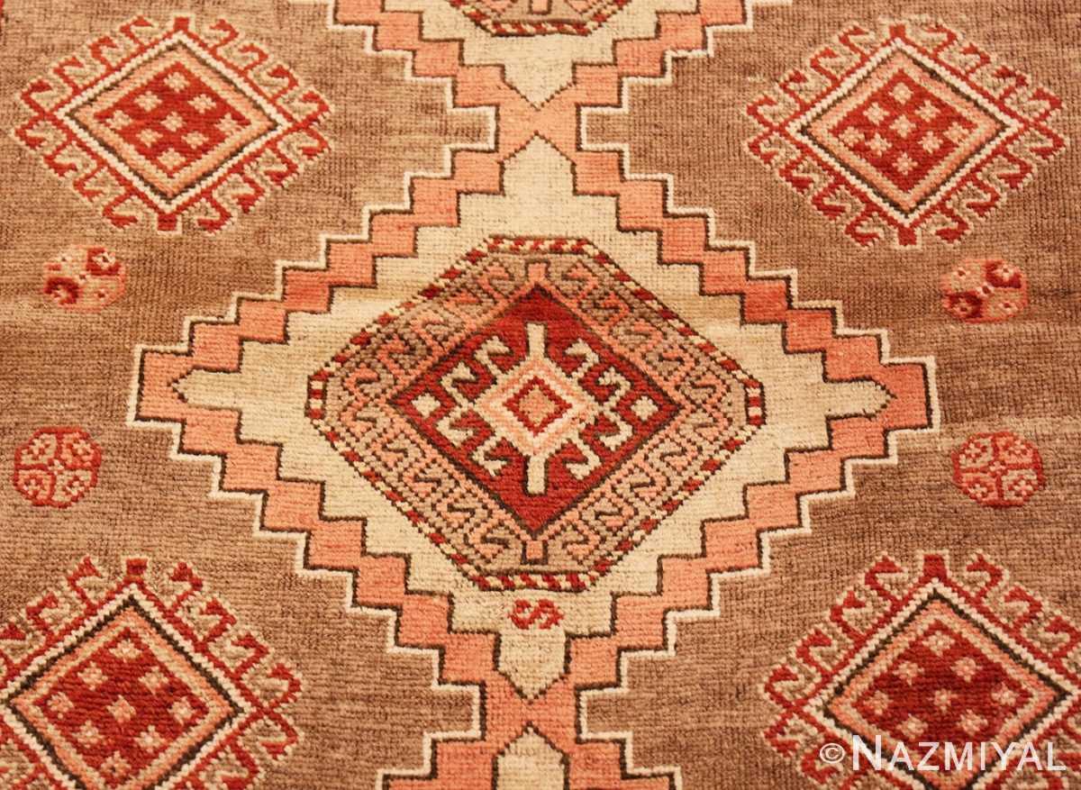 Close-up Tribal Vintage Caucasian Kazak rug 50519 by Nazmiyal