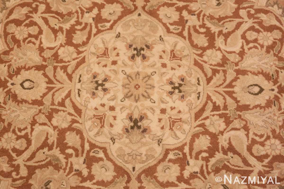 Close-up Vintage Alabaster Persian Tabriz rug 50444 by Nazmiyal