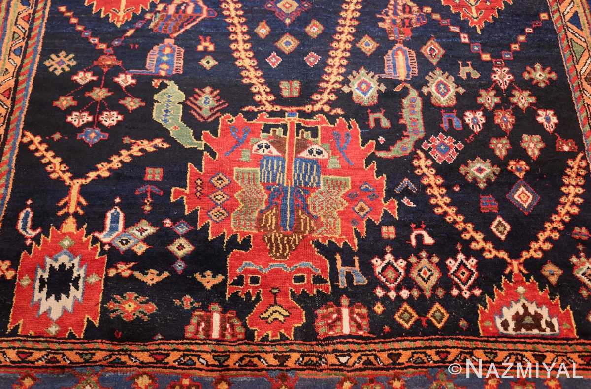colorful antique persian bakhtiari rug 48728 down Nazmiyal