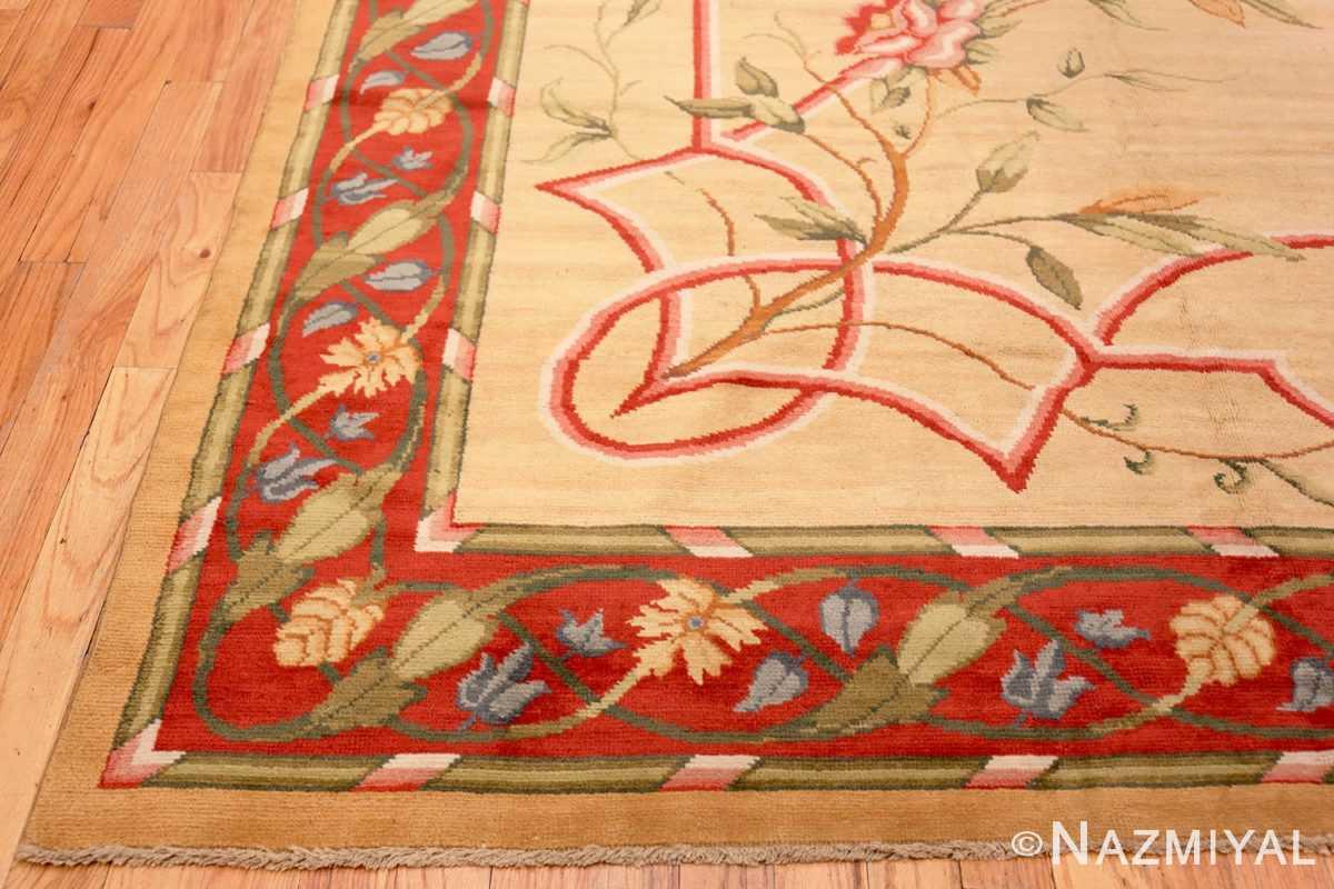 Corner Antique French rug 50471 by Nazmiyal