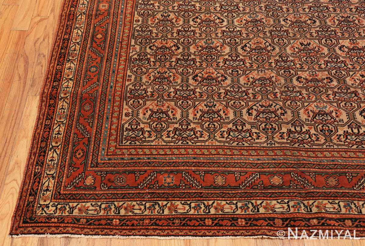 Corner gallery size antique Persian Farahan rug 50446 by Nazmiyal
