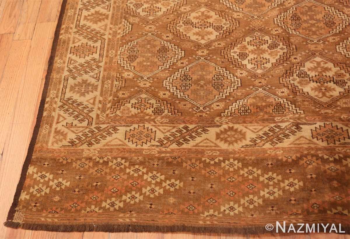 Corner long and narrow vintage tribal Afghan rug 50500 by Nazmiyal