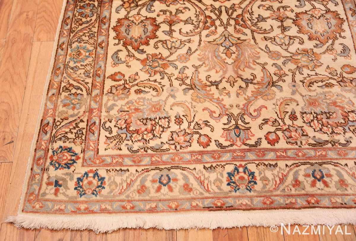 Corner Small Vintage Indian Tabriz rug 50529 by Nazmiyal