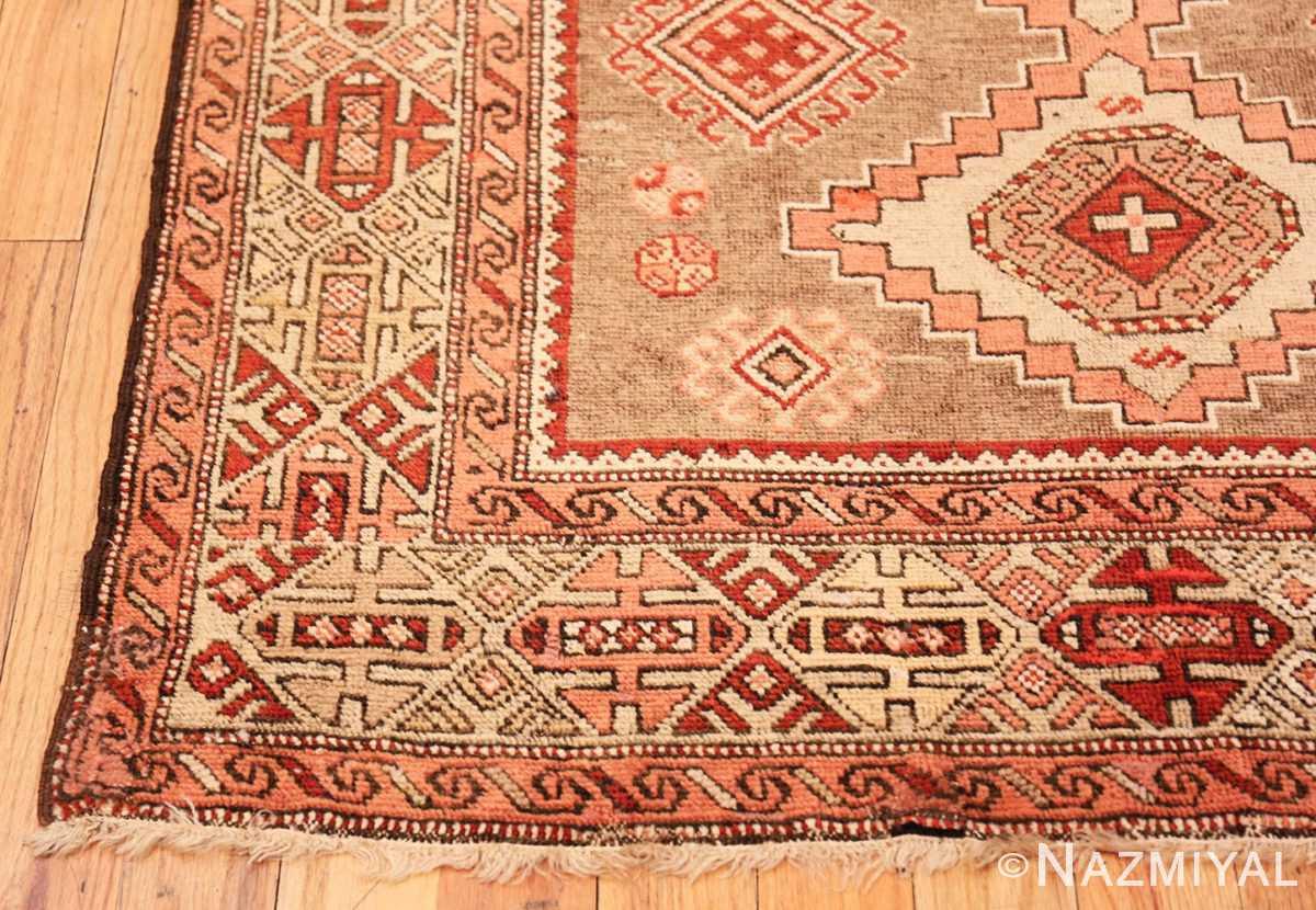 Corner Tribal Vintage Caucasian Kazak rug 50519 by Nazmiyal