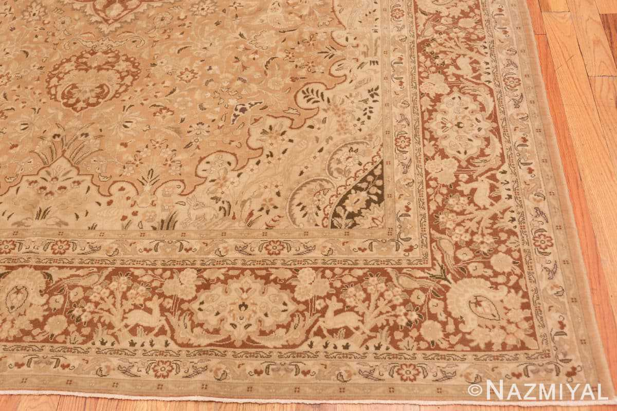 Corner Vintage Alabaster Persian Tabriz rug 50444 by Nazmiyal