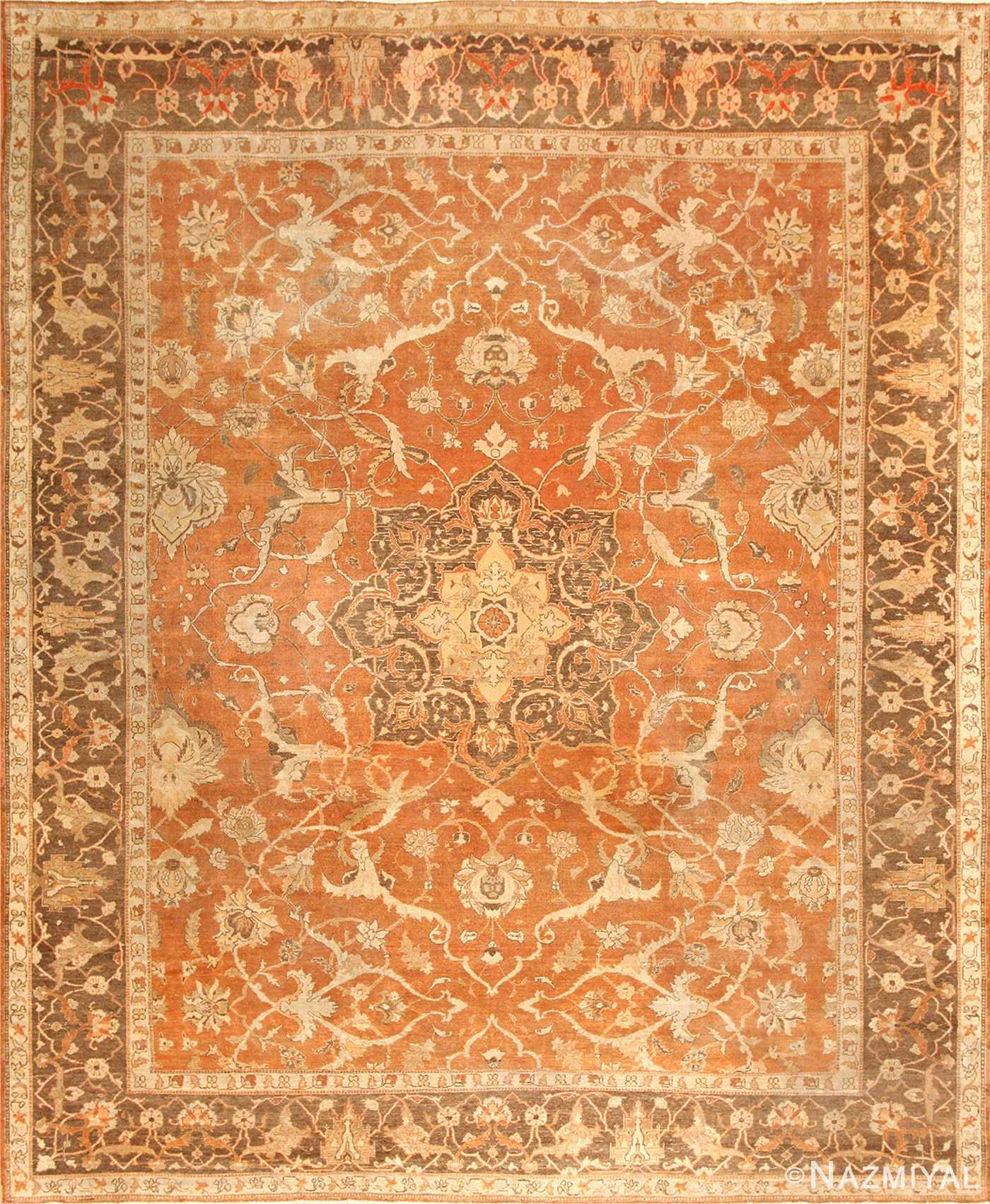 Decorative Antique Indian Amritsar Rug 50438 Nazmiyal