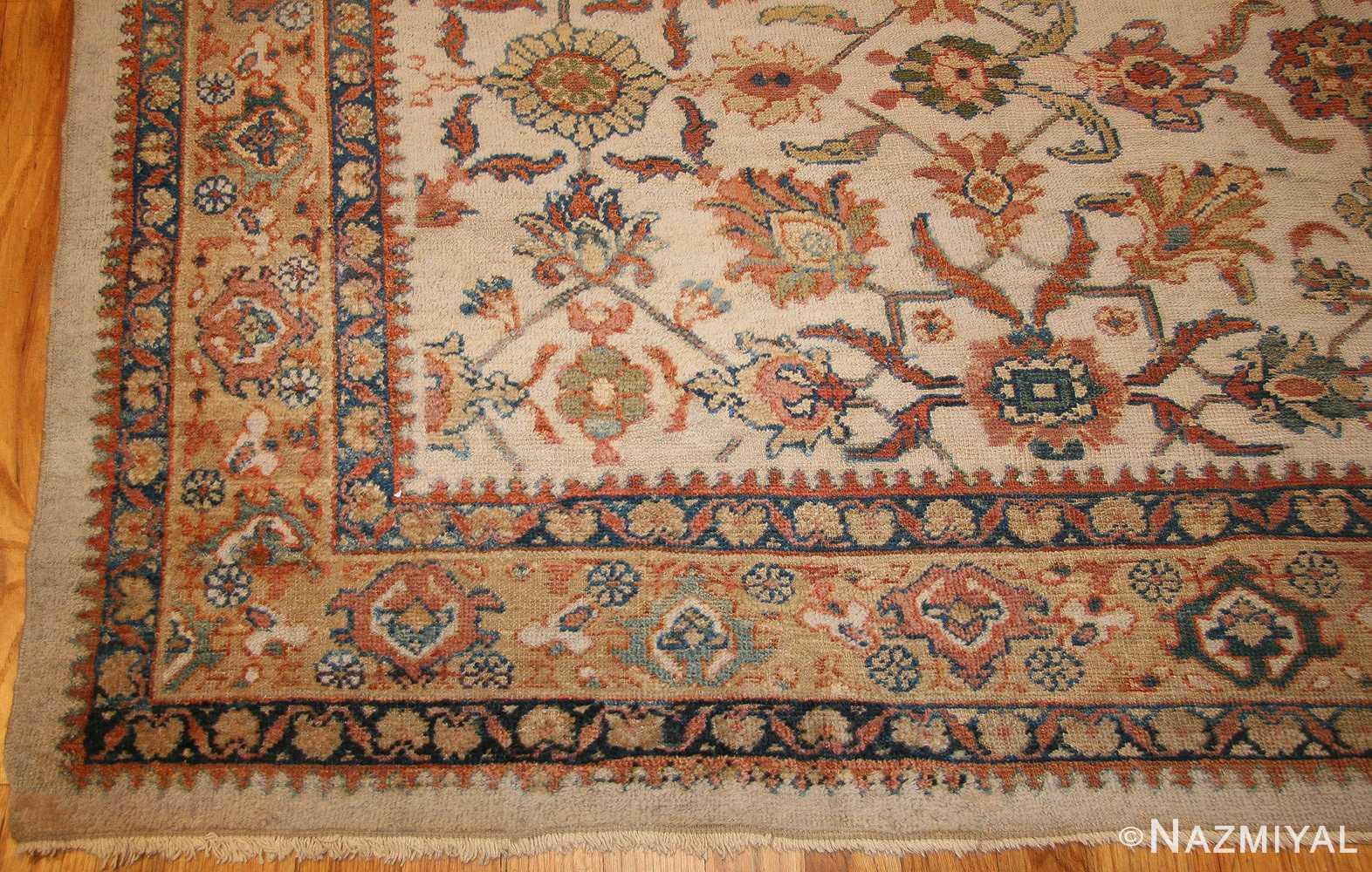 decorative antique persian sultanabad rug 50483 corner Nazmiyal