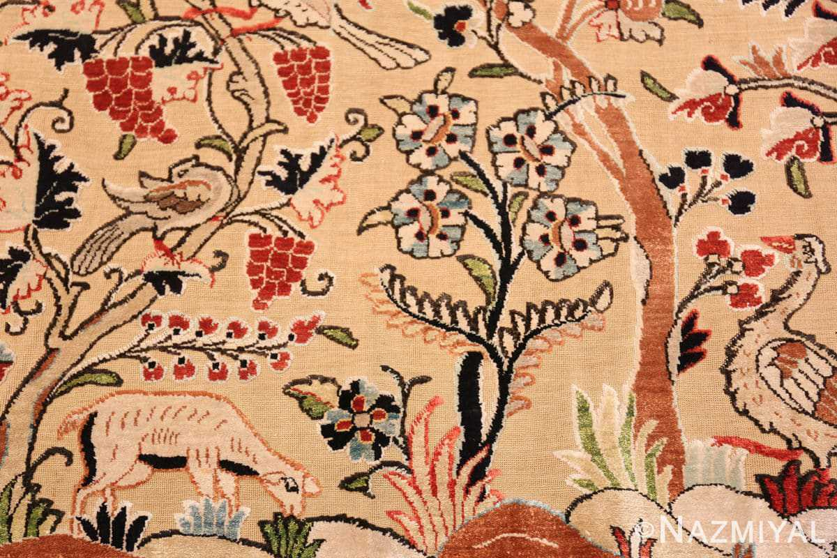 Detail Small Intricate Antique Persian Kashan rug 48721 by Nazmiyal