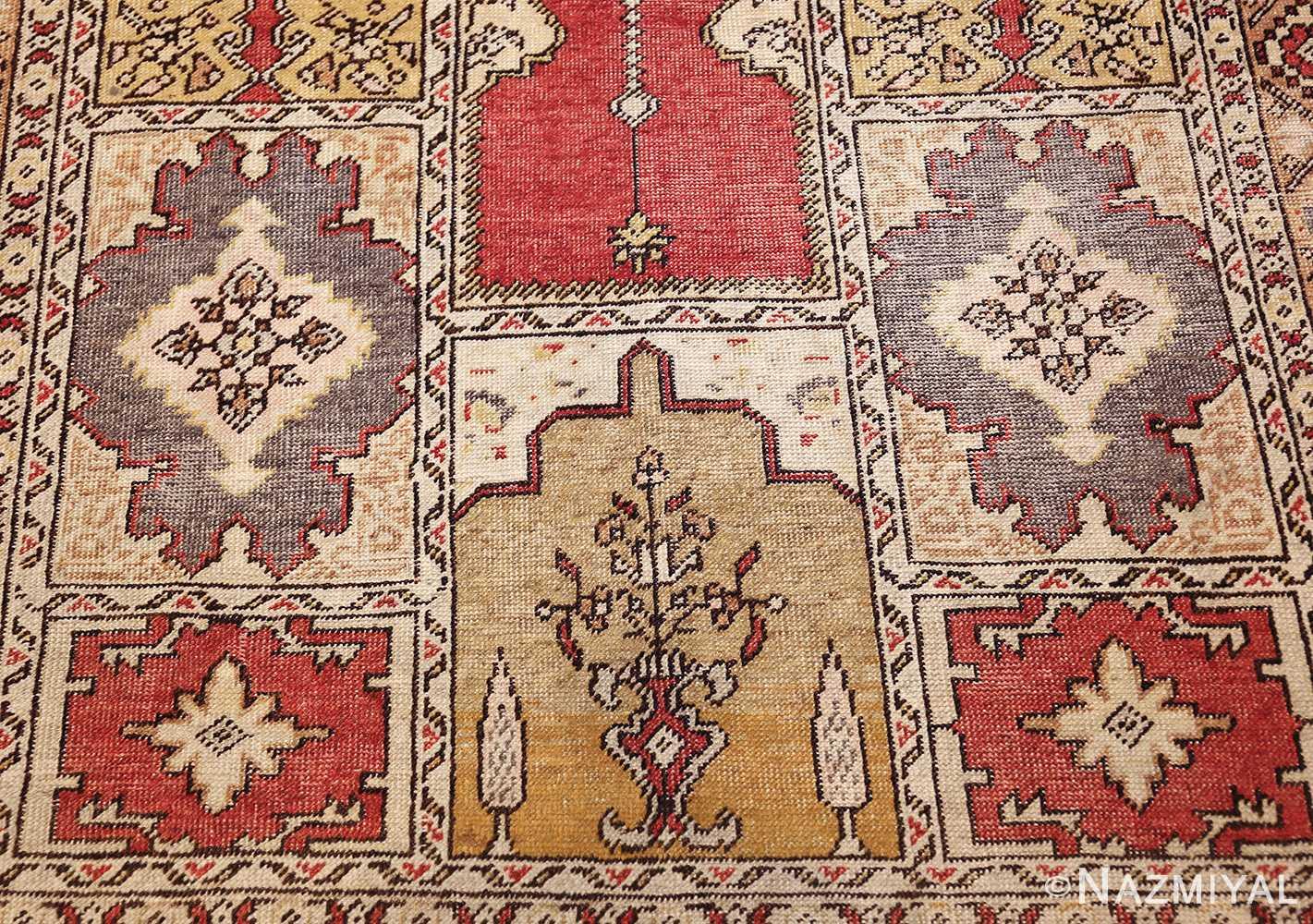 family prayer antique turkish ghiordes rug 50501 down Nazmiyal