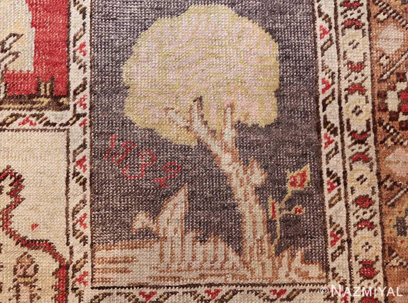 family prayer antique turkish ghiordes rug 50501 tree Nazmiyal