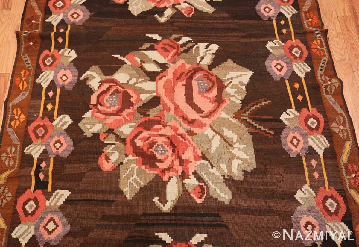 Field floral vintage Turkish Kilim rug 50476 by Nazmiyal