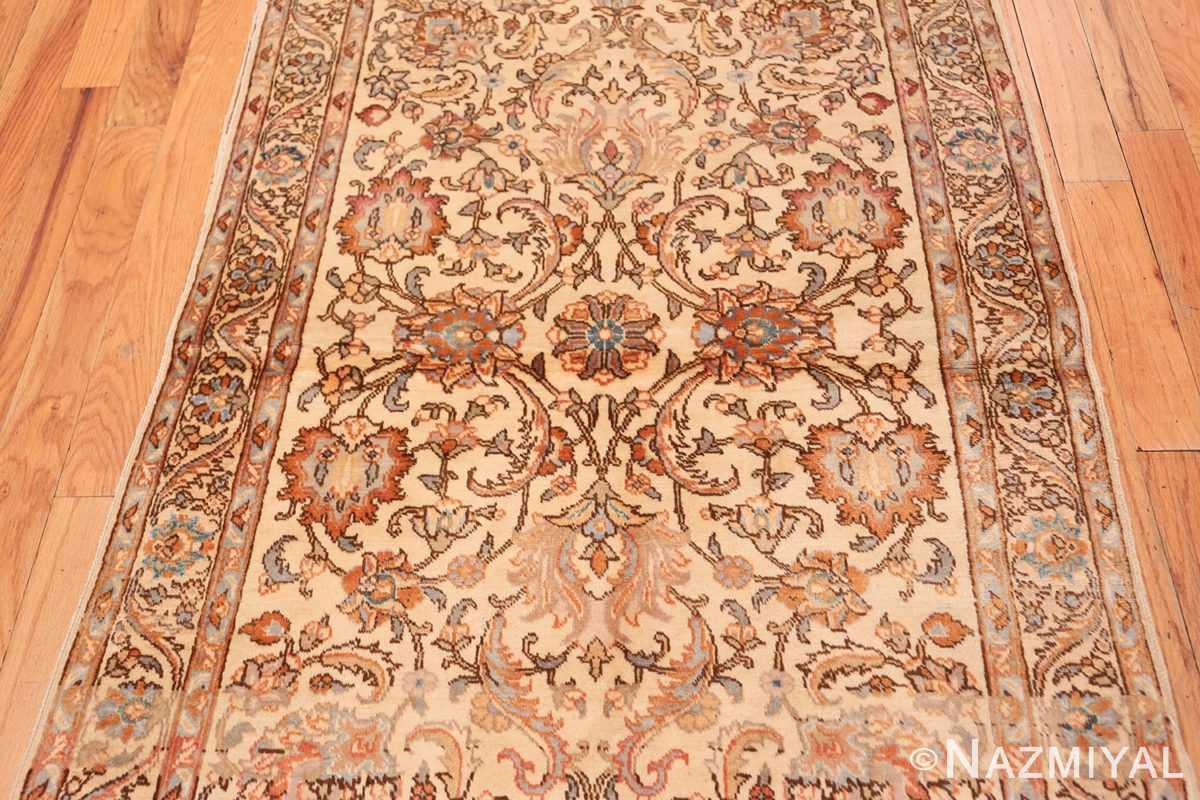 Field Small Vintage Indian Tabriz rug 50529 by Nazmiyal