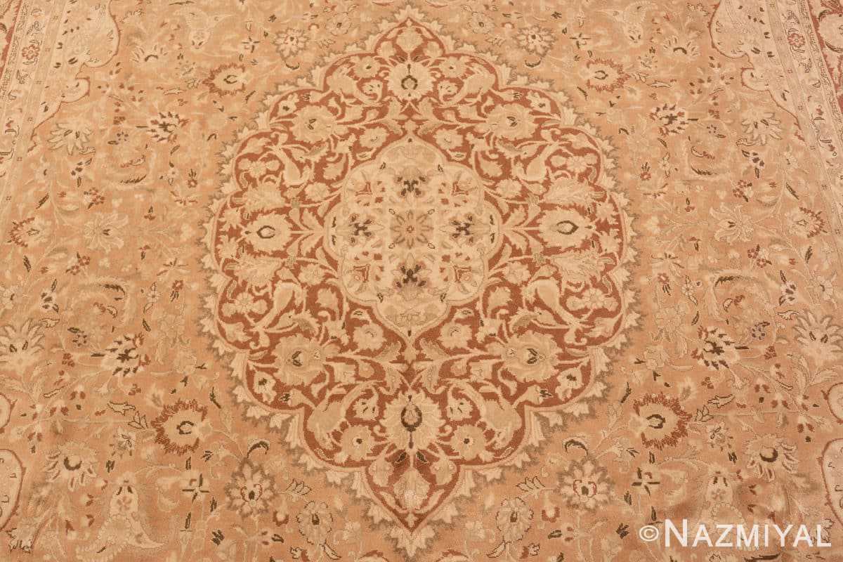 Field Vintage Alabaster Persian Tabriz rug 50444 by Nazmiyal
