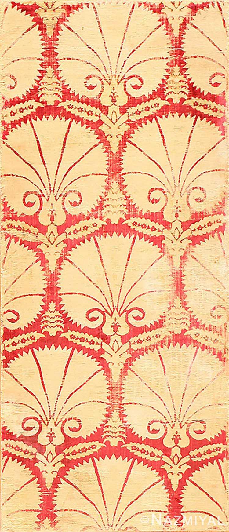 Floral Antique Turkish Ottoman Textile 48640 Nazmiyal