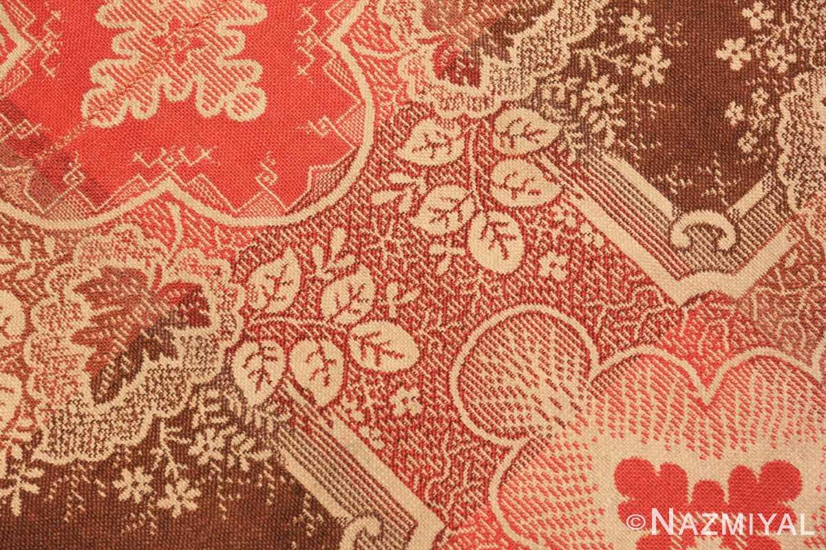 Flower large all over design antique American Ingrain rug 50460 by Nazmiyal