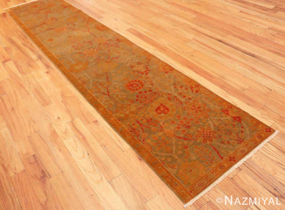 Full Floral Antique Indian runner rug 50496 by Nazmiyal