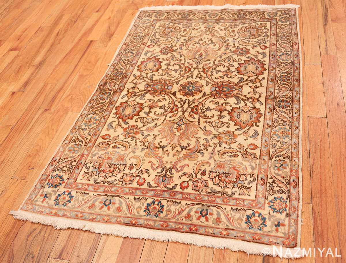 Full Small Vintage Indian Tabriz rug 50529 by Nazmiyal