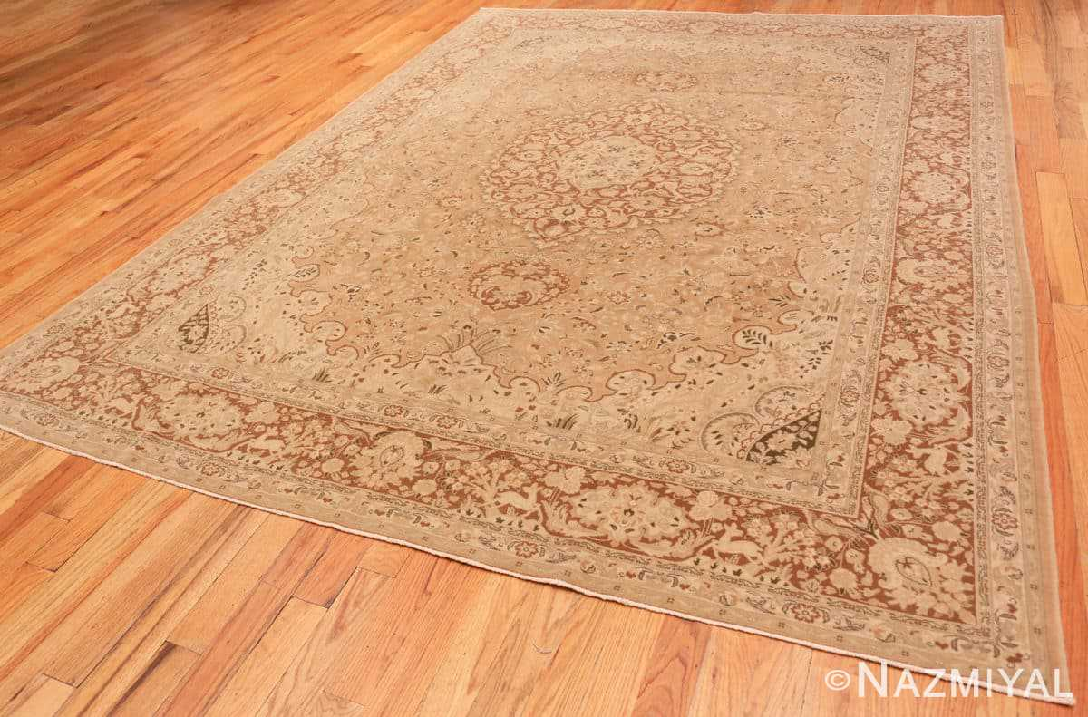 Full Vintage Alabaster Persian Tabriz rug 50444 by Nazmiyal