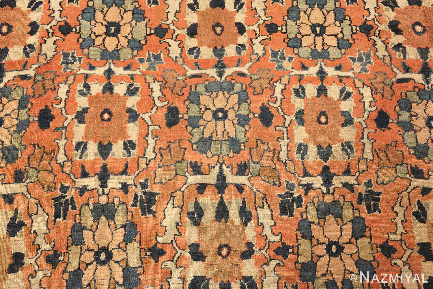 gallery size antique persian khorassan rug 50459 flowers Nazmiyal