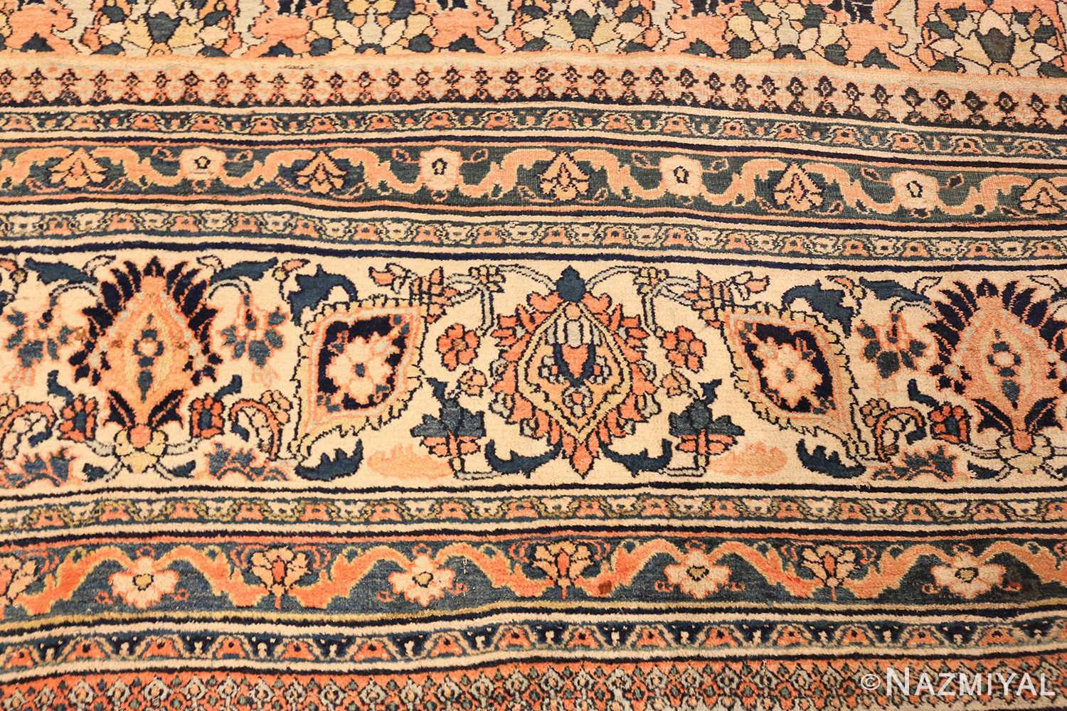 gallery size antique persian khorassan rug 50459 top Nazmiyal
