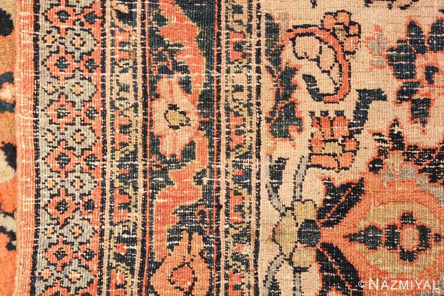 gallery size antique persian khorassan rug 50459 weave Nazmiyal