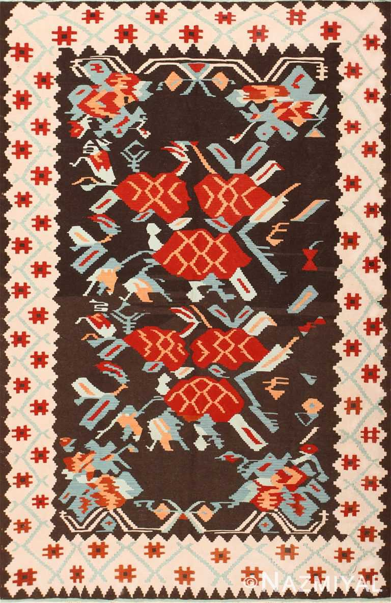 Geometric Vintage Turkish Kilim Carpet 50538 Nazmiyal