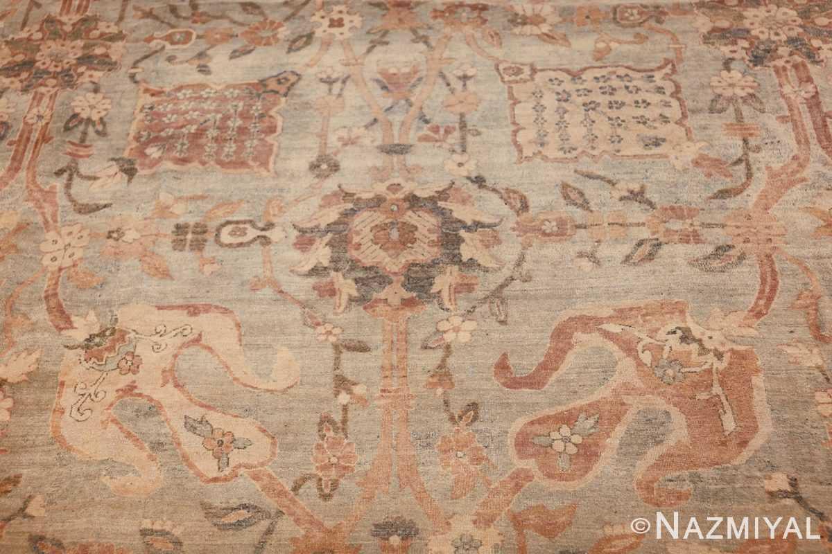 intricate vase design antique persian kerman rug 47410 black Nazmiyal