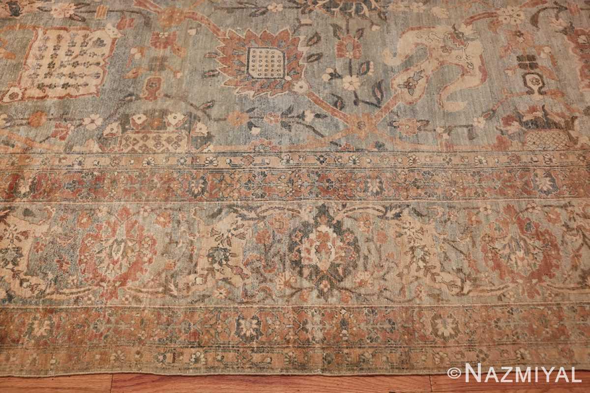 intricate vase design antique persian kerman rug 47410 margin Nazmiyal