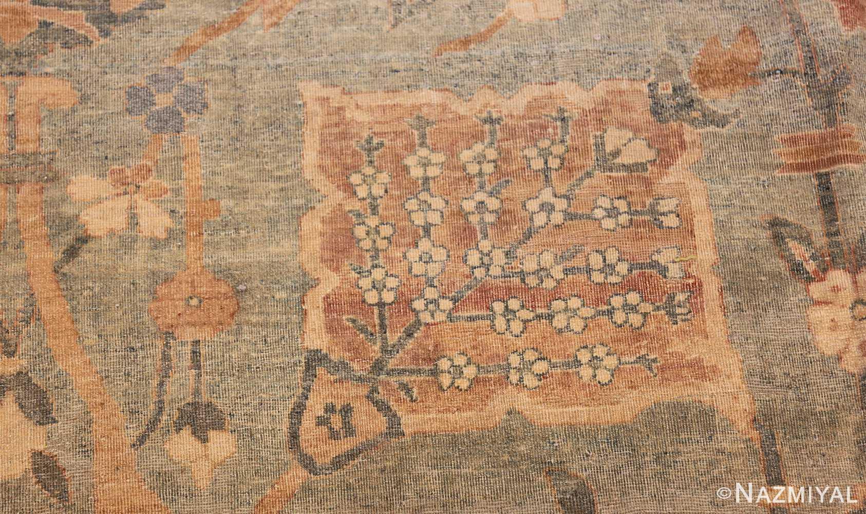 intricate vase design antique persian kerman rug 47410 tiny Nazmiyal