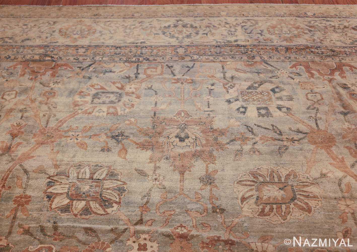 intricate vase design antique persian kerman rug 47410 top Nazmiyal