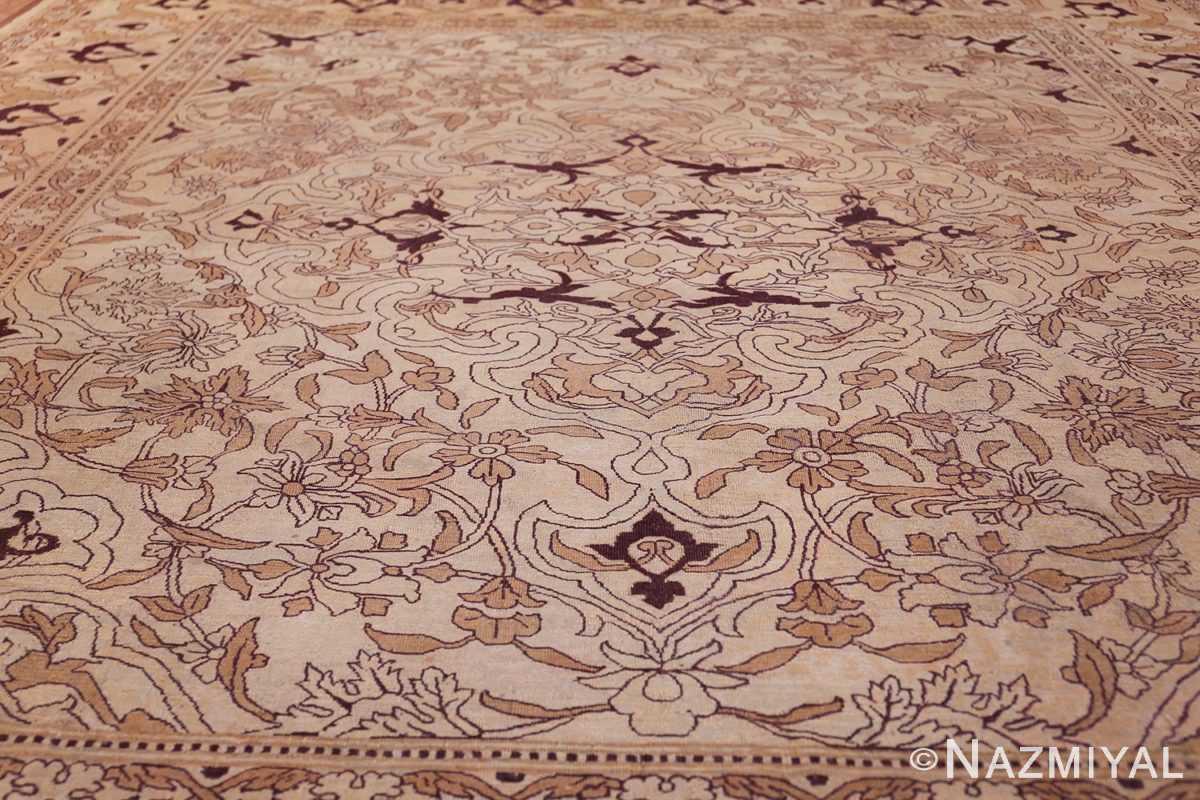 Ivory Antique Indian Amritsar Rug 50453 Field Design Nazmiyal