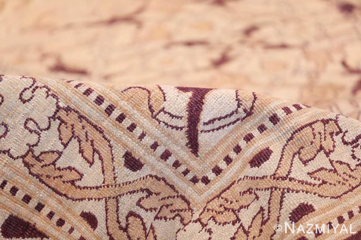 Ivory Antique Indian Amritsar Rug 50453 Geometric Pile Nazmiyal