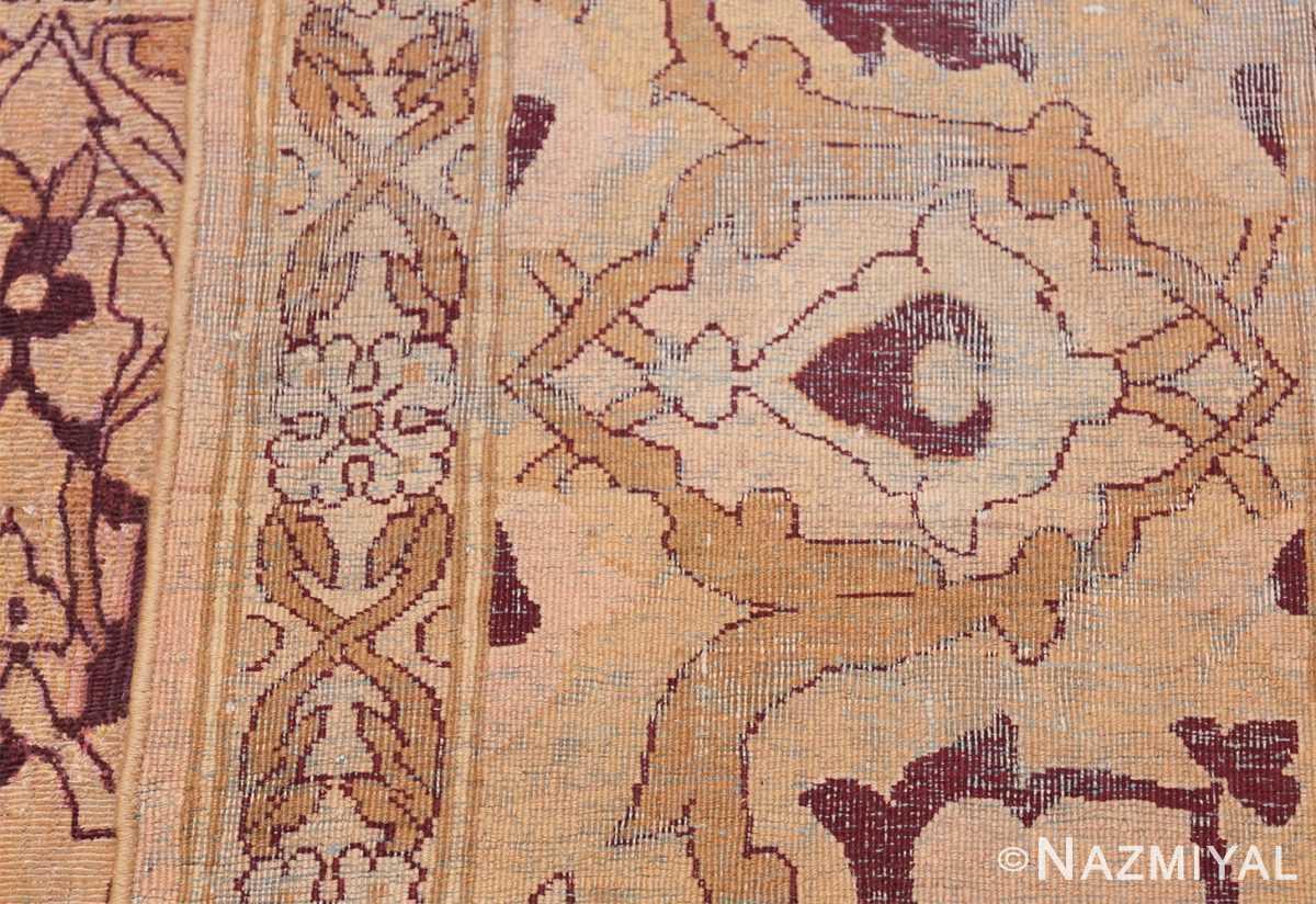 Ivory Antique Indian Amritsar Rug 50453 Woven Knots Nazmiyal