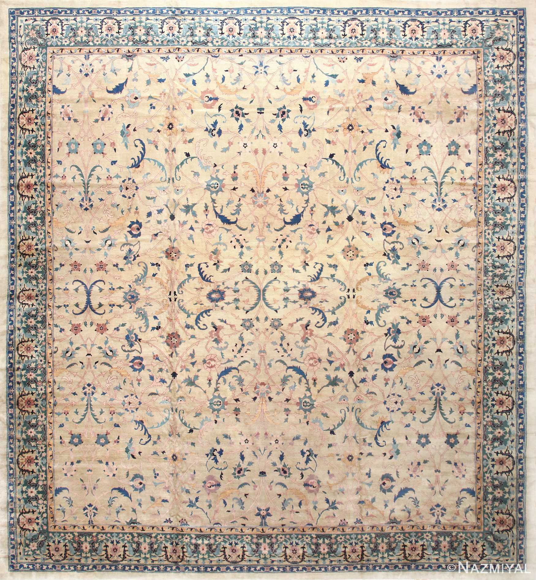 Large Antique Indian Agra Rug 50457 Nazmiyal