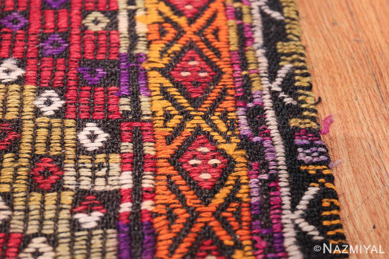 Multi Colored Vintage Turkish Kilim Rug 50534 Border Nazmiyal