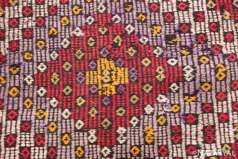 Multi Colored Vintage Turkish Kilim Rug 50534 Central Medallion Nazmiyal