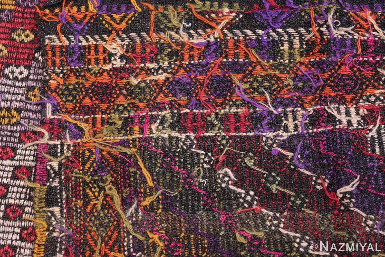Multi Colored Vintage Turkish Kilim Rug 50534 Knots Flat Woven Nazmiyal