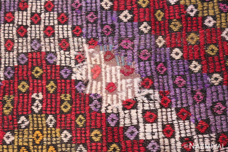 Multi Colored Vintage Turkish Kilim Rug 50534 Middle Patch Nazmiyal