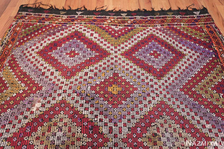 Multi Colored Vintage Turkish Kilim Rug 50534 Top Design Nazmiyal