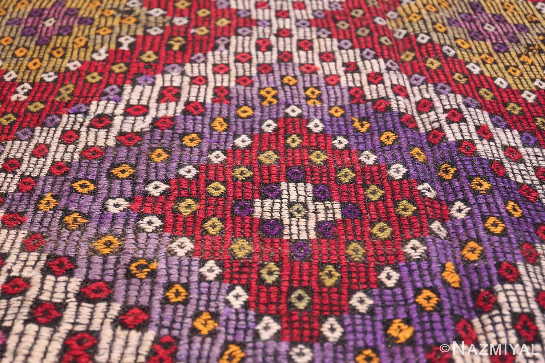 Multi Colored Vintage Turkish Kilim Rug 50534 Trio Medallion Nazmiyal
