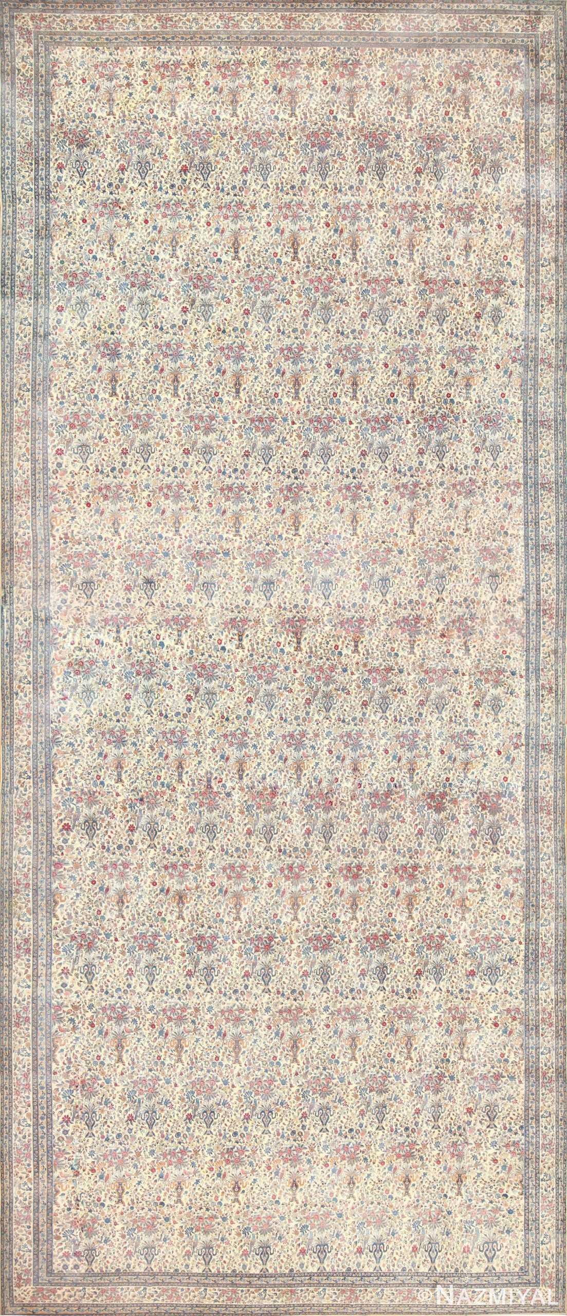 Oversized Antique Persian Kerman Rug 48370 Nazmiyal