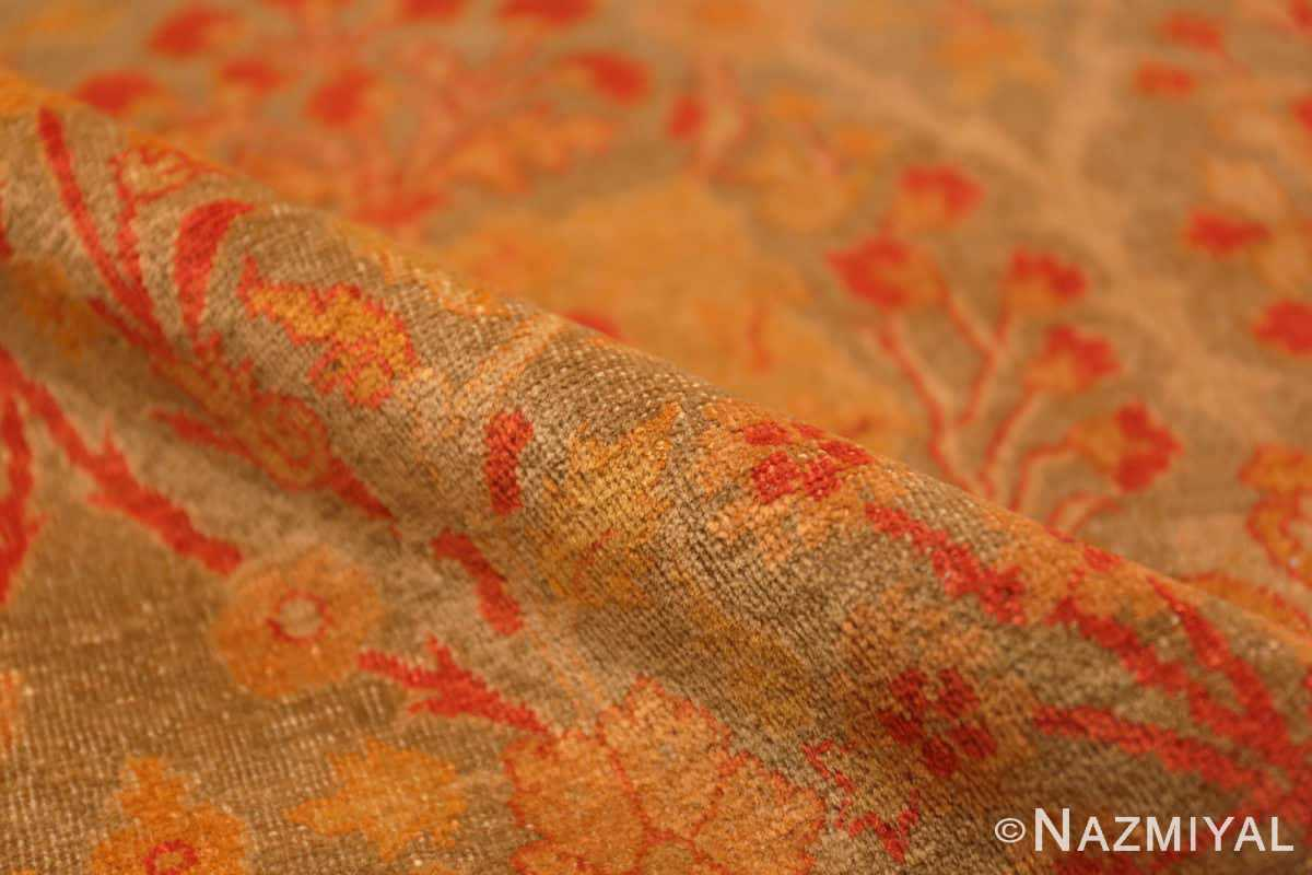 Pile Floral Antique Indian runner rug 50496 by Nazmiyal